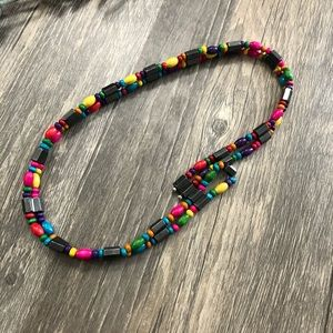 Multicolor magnetic beaded bracelet or necklace